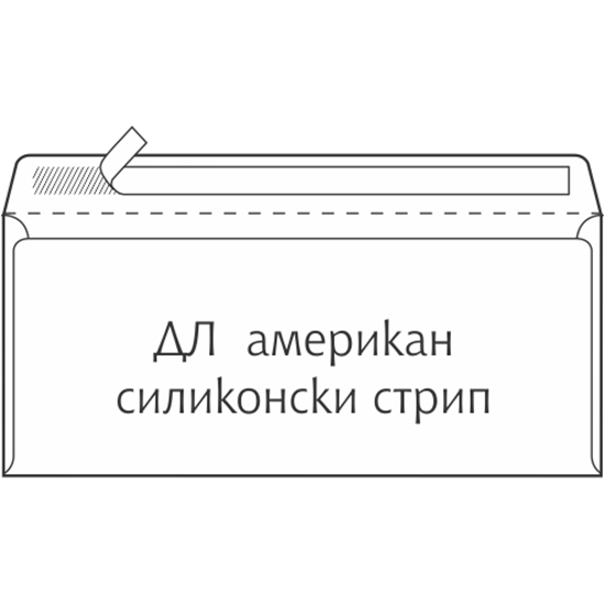 Picture of Envelope Dl-Abt American Strip-181040-181031-Without Window 110 * 220-110 * 230