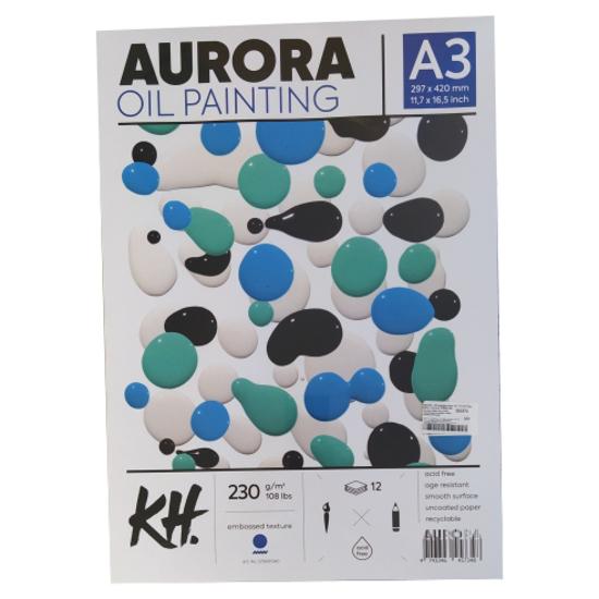 Слика на Хартија , За маслени бои, А3, 12 листови, 230гр., Aurora, 579001340