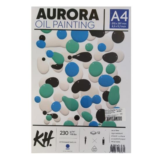 Слика на Хартија, За маслени бои, А4, 12 листови, 230гр., Aurora, 579001230