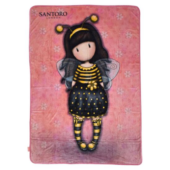 Слика на Ќебе, 140 x 210 цм, Santoro, Gorjuss - Bee loved, SA07255, Розева